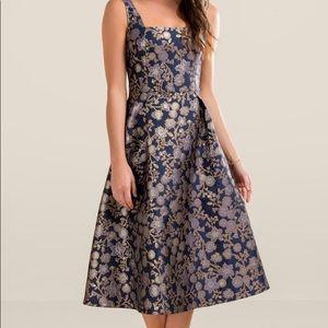 ⭐️ Francesca's Mia Brocade Midi Dress